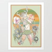 blush Art Prints featuring blush by CASSIDY RAE MARIETTA