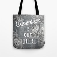 adventure Tote Bags featuring Adventure by Zach Terrell