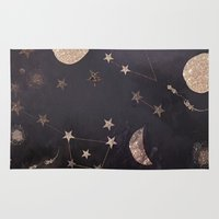constellations Area & Throw Rugs featuring Constellations  by dreamshade
