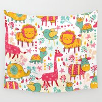 wildlife Wall Tapestries featuring Wildlife by One April