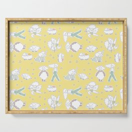 Clouds and Dreams - Yellow tone Serving Tray