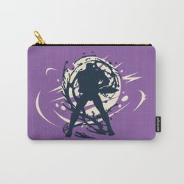 Black Japanese Ninja Warrior Fantasy Silhouette Carry-All Pouch