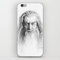 gandalf iPhone & iPod Skins featuring Gandalf by Creadoorm