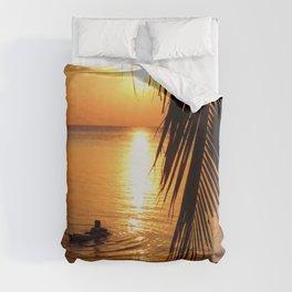 Island sunset relaxation Duvet Cover
