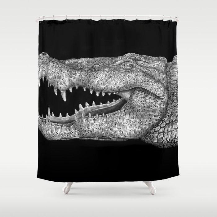Alligator Shower Curtain By Tim Jeffs, Alligator Shower Curtain