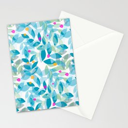 Blue Leaves and Berries Stationery Cards