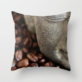 Coffee Buddha 4 Throw Pillow