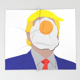 Egg On Your Face Trump Throw Blanket