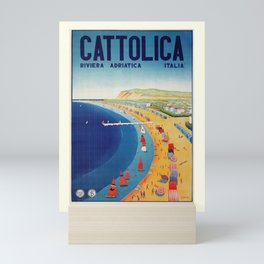 Cattolica 1920s Italy travel Mini Art Print