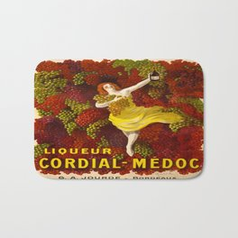 Vintage poster - Liqueur Cordial-Medoc Bath Mat