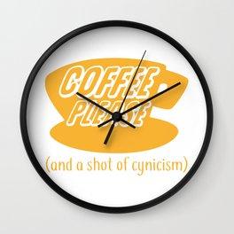 Coffee Please Wall Clock