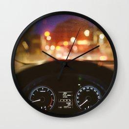 Driving at night Wall Clock
