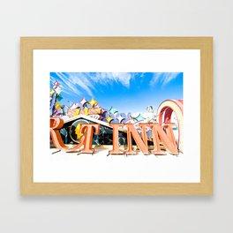 las vegas (two) Framed Art Print