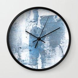 Gray blue smoke Wall Clock