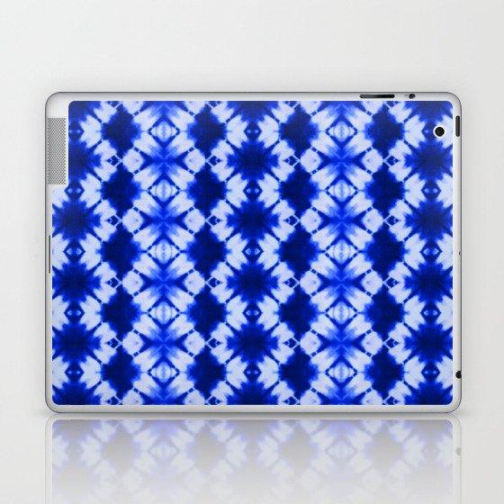 indigo shibori print Laptop & iPad Skin