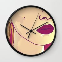 lana Wall Clocks featuring Lana  by vidixoxo