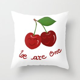 Oh cherry-cherry *in love* Throw Pillow