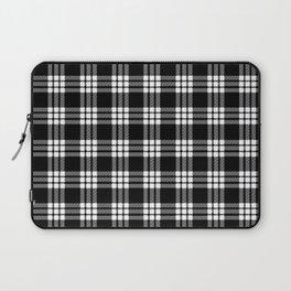 MacFarlane Black + White Tartan Modern Laptop Sleeve