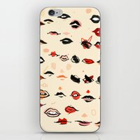 lips iPhone & iPod Skins featuring Lips by Visualcrafter