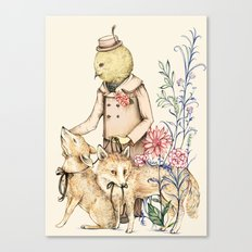 Canary and foxes Canvas Print