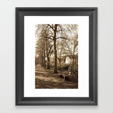 A lonely world Framed Art Print