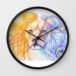 Cosmic Lion Wall Clock