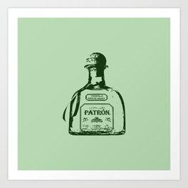 Patron Tequila Pop Art Art Print