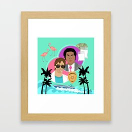 Miami Vice: Crockett and Tubbs Framed Art Print