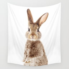 Brown Standing Bunny, Baby Animals Art Print By Synplus Wall Tapestry