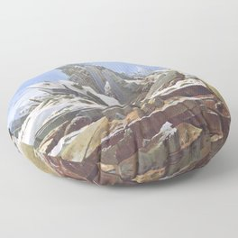 The Sea of Ice - Caspar David Friedrich Floor Pillow