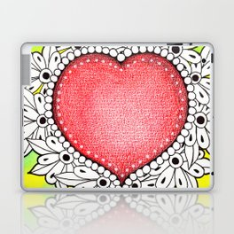 Watercolor Doodle Art | Heart Laptop & iPad Skin