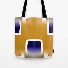 Yellow and Blue Abstract Art Tote Bag