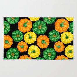 Pumpkins watercolor pattern 3 Rug
