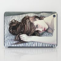 striped iPad Cases featuring Striped Sheets by Madelyne Joan Templeton