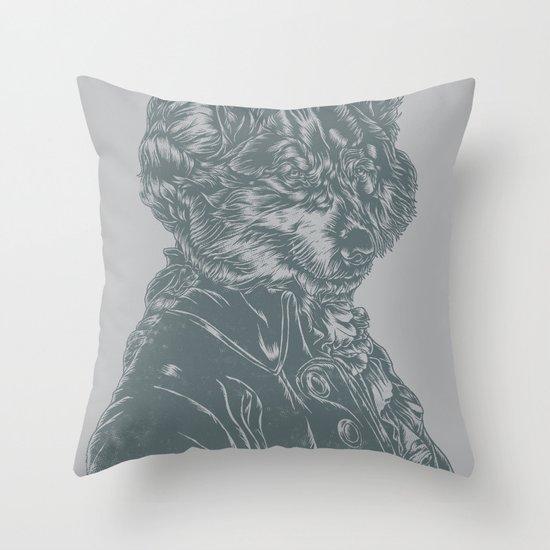 Wolf Amadeus Mozart Throw Pillow