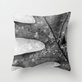 oak leaf and snowflakes Throw Pillow