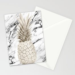 Marble Pineapple Stationery Cards