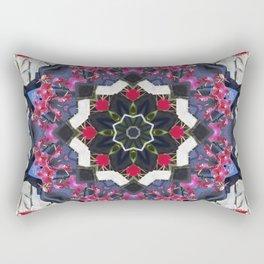Orchids And Stone Wall Kaleidoscope 1763 Rectangular Pillow