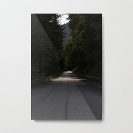 the dark makes the light more interesting Metal Print
