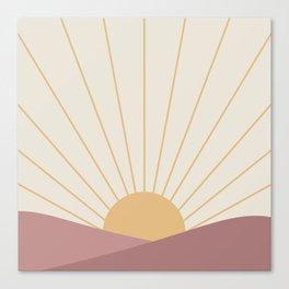 Morning Light - Pink Canvas Print