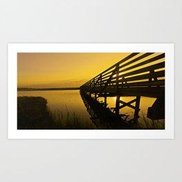 Sunrise Bolsa Chica Wetlands 2 Art Print