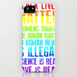 Human rights beautiful shirt iPhone Case