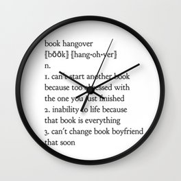 book hangover Wall Clock