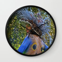 Body Painting OWL 8 - Made in Italy Wall Clock