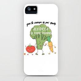 Vegetarian macarena iPhone Case