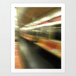 subway motion 2 Art Print