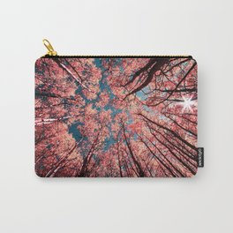 Upward Glance Living Coral Trees Blue Sky Carry-All Pouch