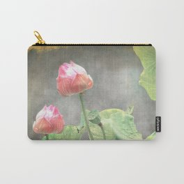 Asiatic Flowers in Pale Pink Carry-All Pouch