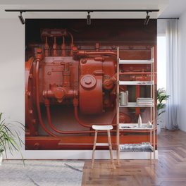 Red Tractor motor Wall Mural