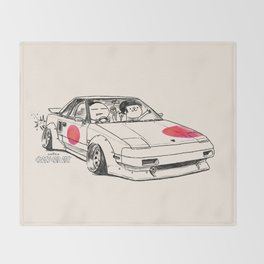 Crazy Car Art 0161 Throw Blanket